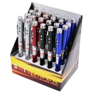 Ручка 3в1 лазер фонарик брелок PEN LASER ZK 21L (упак./24шт)