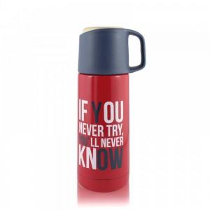 Термос с поилкой и чашкой If You Never Try Y'll Never Know (BHM2653W)