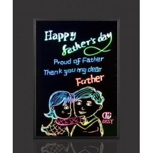 Флуоресцентна дошка для малювання, яка світиться c фломастером і серветкою 30 * 40 (FLUORECENT BOARD, ART-0397)