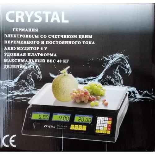 Весы торговые электронные CRYSTAL 40 кг