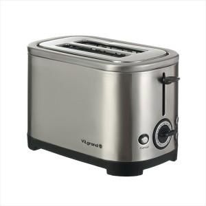 Тостер ViLgrand VT0928S  (950 Вт, нерж., піддон для крихт, розморожування та підігрів)