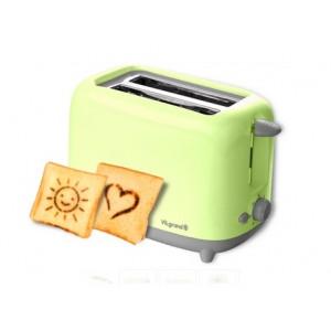 Тостер VT0722Р green, 750 Вт (тости з малюнком, піддон для крихт)