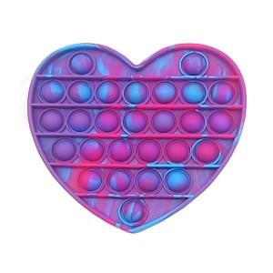 Антистрес Pop It Heart violet-red