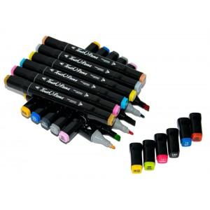 Набор маркеров для скетчинга (24шт., черный)