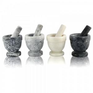 Каменная ступка с толкушкой (пестиком) мрамор Mortar (BHUSC022)