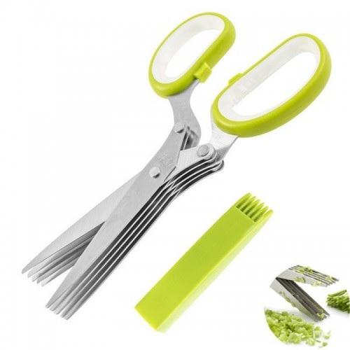 Кухонные ножницы для зелени 137, 5 острых лезвий
