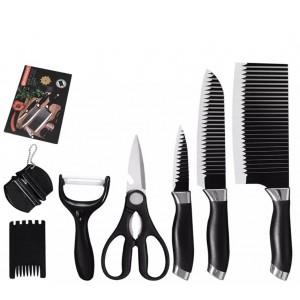 Набір кухонних ножів EVERWAALTH з нержавіючої сталі, 7 шт
