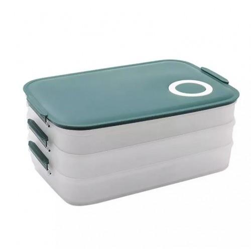 Прозрачный контейнер для хранения еды в холодильнике 3 в 1