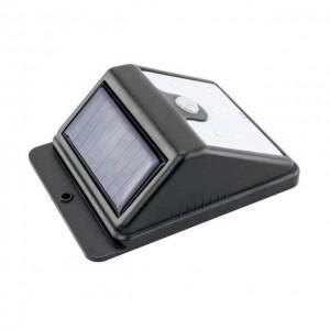 Вуличний настінний світильник 609-30 на сонячній батареї з датчиком руху