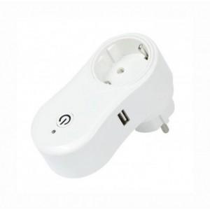 Розумна WI-FI розетка Socket з USB для розумного будинку і квартири