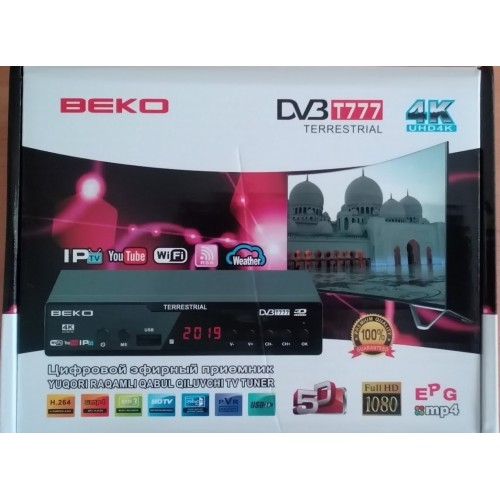 DVB T2 тюнер для цифрового ТВ BEKO T15 c YouTube IPTV 4K