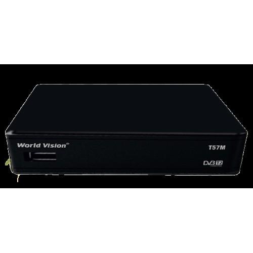DVB T2 тюнер для цифрового ТВ World Vision T57M