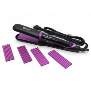 Щипці-гофре для волосся Gemei GM 2859 3в1 (щипці, 2 вида гофре)