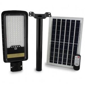 Уличный фонарь на столб с солнечной панелью JD 296, 200W, VPP, пульт