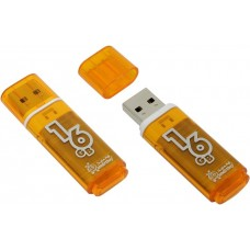 Флешка usb flash 16GB Glossy series Orange