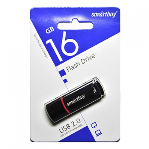 Флешка usb flash 16Gb Smartbuy Crown Black