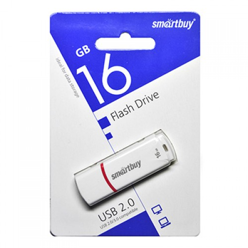 Флешка usb flash 16Gb Smartbuy Crown White
