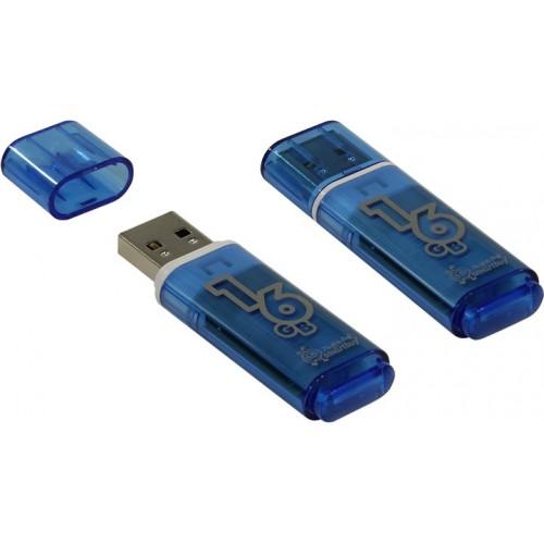 Флешка usb flash 16Gb Smartbuy Glossy series Blue
