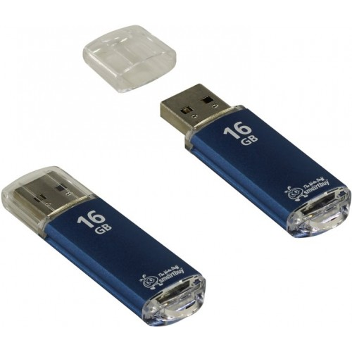 Флешка usb flash 16Gb Smartbuy V-Cut Blue