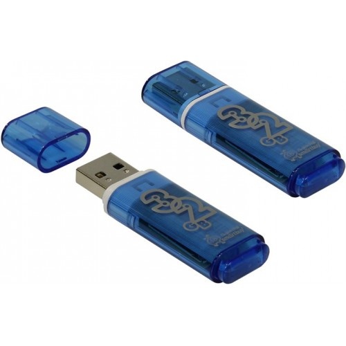 Флешка usb flash 3.0 Smartbuy 32GB Glossy series Dark Blue