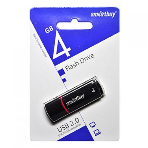 Флешка usb flash 4Gb Smartbuy Crown Black