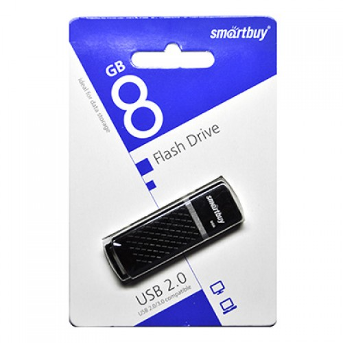 Флешка usb flash 8Gb Smartbuy Quartz Black