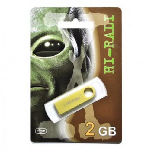 Флешка usb flash Hi-Rali 2GB Shuttle series Gold