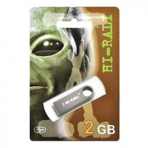 Флешка usb flash Hi-Rali 2GB Shuttle series Silver