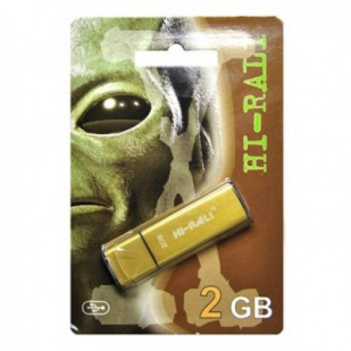 Флешка usb flash Hi-Rali 2GB Vektor series Gold