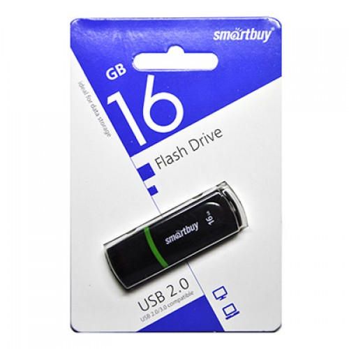 Флешка usb flash Smartbuy 16GB Paean Black SB16GBPN-K