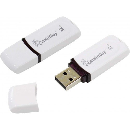 Флешка usb flash Smartbuy 32GB Paean White