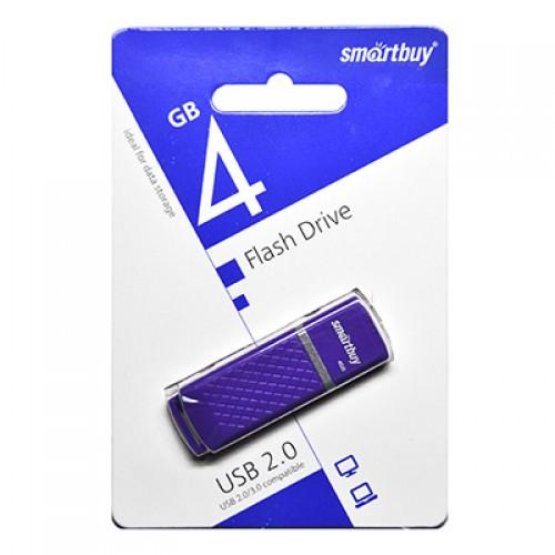 Флешка USB флеш 4Gb Smartbuy Quartz series Violet