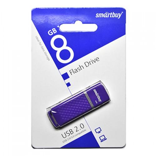 Флешка USB флеш 8GB Smartbuy Quartz series Violet (SB8GBQZ-V)