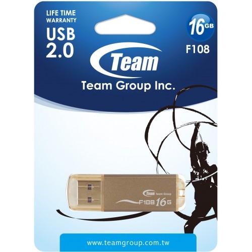 USB накопитель 16Gb Team F108 Brown (TF10816GN01)