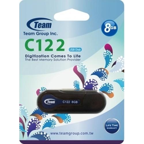 USB накопитель 8Gb Team C122 Black (TC1228GB01)