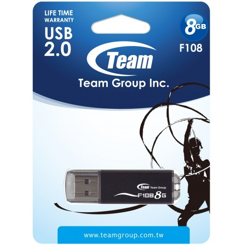 USB накопитель 8Gb Team F108 Black (TF1088GB01)