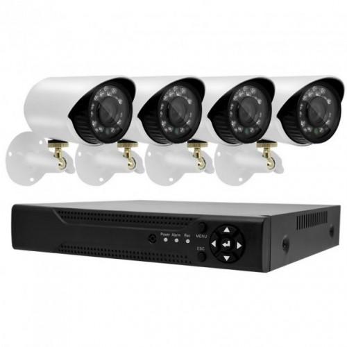Камери відеоспостереження DVR KIT 520 AHD 4ch Gibrid 4.0MP(H.264) набір на 4 камери