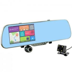 Видео Регистратор Зеркало с двумя камерами DVR A23