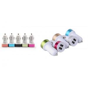 Зарядное устройство 12V 2 USB круглая в цвете