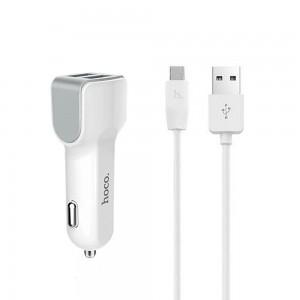 Зарядное устройство 12V HOCO Z23+кабель iPhone-USB
