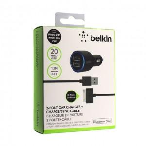 Зарядное устройство автомобильное belkin f8j071 iphone 4s 2usb