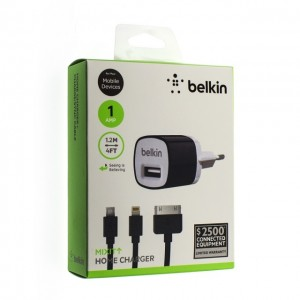 Зарядное устройство сетевое belkin f8j017e iphone 4s