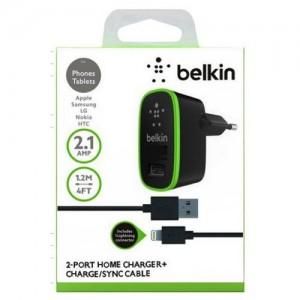 Зарядное устройство сетевое belkin f8m670 iphone 5 2usb