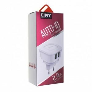 Зарядное устройство сетевое emy my-263 iphone 5 2400mah