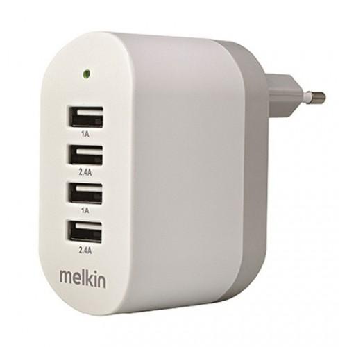Зарядное устройство сетевое Melkin M8J028E 4USB (2 x 2A 2 x 4A) ports Поворотная вилка