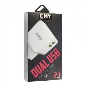 Зарядное устройство сетевой адаптер emy my-256 iphone 5 2100mah