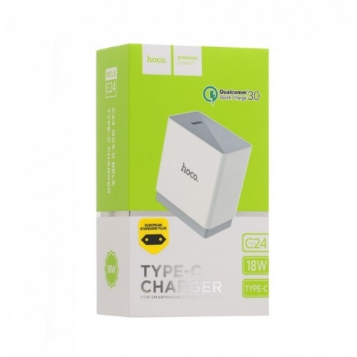 Сетевое зарядное устройство HOCO C24 BELE QC3.0 TYPE-C