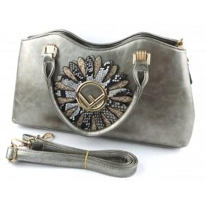 Женская сумка из кожзаменителя 72311 Silver (уценка)