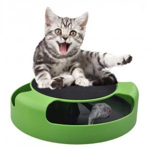 Іграшка інтерактивна для кота з мишкою Catch The Mouse (дряпка)