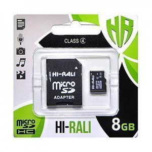micro SDHC карта памяти HI-RALI  8GB class 4 (с адаптером)
